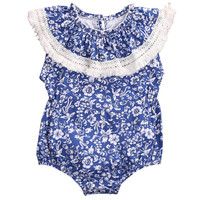 0-24M Newborn Infant Baby Girl Floral Summer Sleeveless Romper Jumpsuit Sunsuit Outfits Clothes
