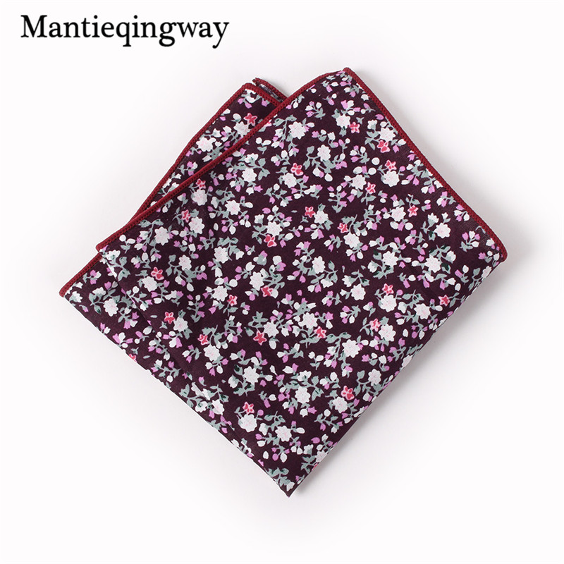 Cotton Floral Handkerchief Formal Business Suit Handkerchiefs Wedding Paisley Hanky Fashion Men's Pocket Square