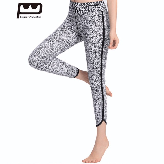 aa472ccf4bcb6d New Women Indian Yoga Running Fitness Sports Pants Capris Spot Printed High  Elasticity Soft Cropped Knitted Bottoms High Waist
