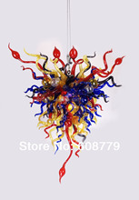 Colorful Contemporary Hand Blown Glass Dining Room Chandeliers