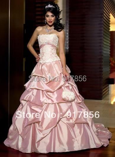eea4cf00fd876 2013 sexy fashion noble stunning Dark pink satin wedding dresses formal bridal  gown 6 8 10 12 14 16 18 size custom free shipping