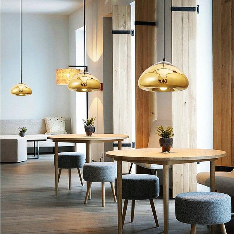Excellent design leegte goud zilver koper glazen hanglamp met led ...
