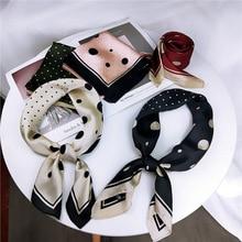 Square Scarf Women Elegant 70*7cm Small Silk Feel Satin Neckerchief Head-Neck Tie Band Hair Rope Bag Wristband Wrap