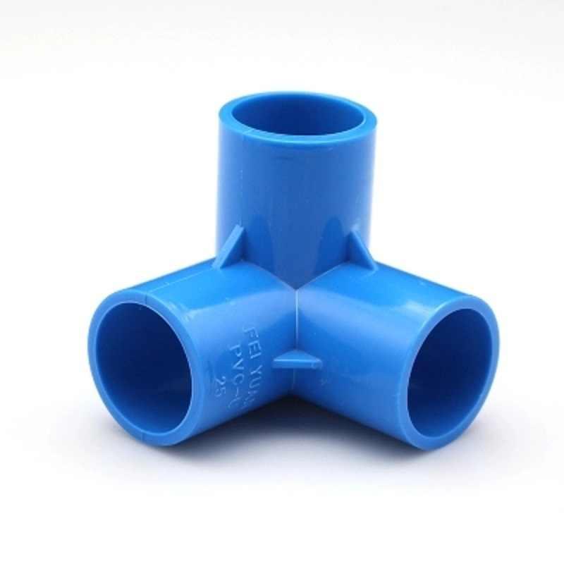 Nhựa PVC Đường Ống Cấp Nước Phụ Kiện Xanh Dương Thẳng Khuỷu Tay Chắc Chắn Bằng Thun 4 Chiều Kết Nối Phần Nhựa Nước Tưới Phần