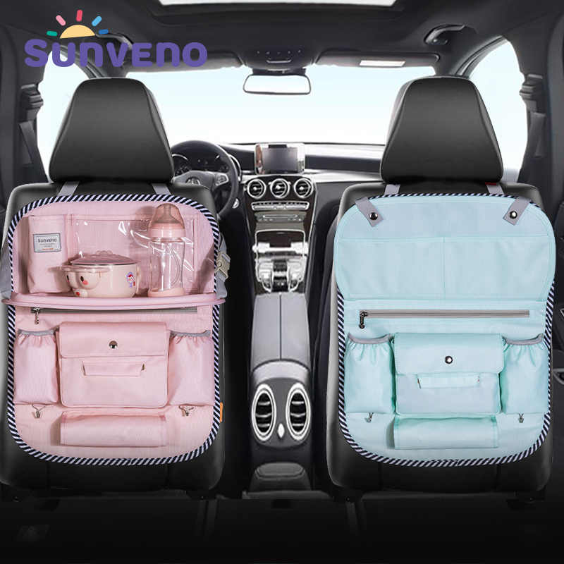 SUNVENO Multi-color Auto Car Seat Back Bag Cloth Multi-Pocket Storage Bag Organizer Holder Accessory Diaper bag