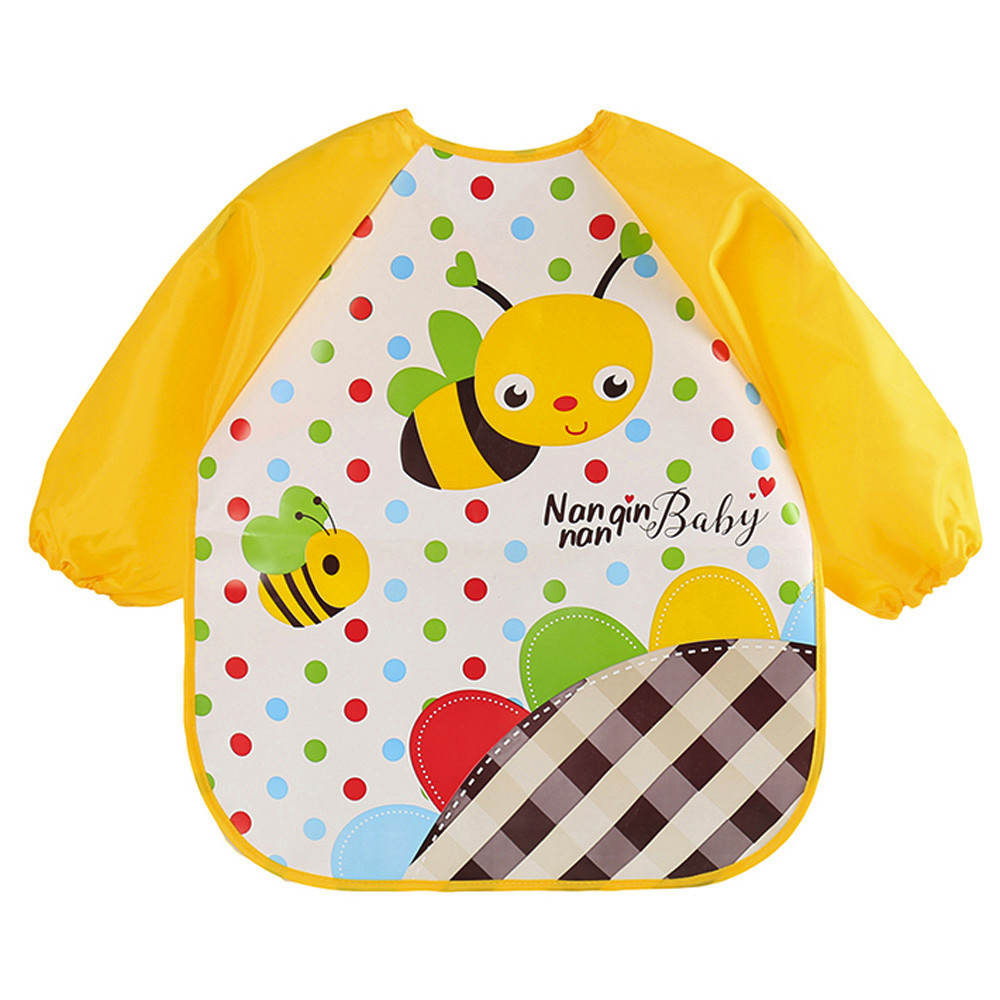 2018 Hot Baby Bibs Burp Cloths Waterproof Cartoon Kids Drawing Smock Feeding Bandana Baby Bibs Burp Cloths