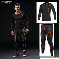LYNSKEY Men Underwear Sets Compression Sweat Quick Drying Underwear Men Gym Fitness Long Sleeve Compression Shirt