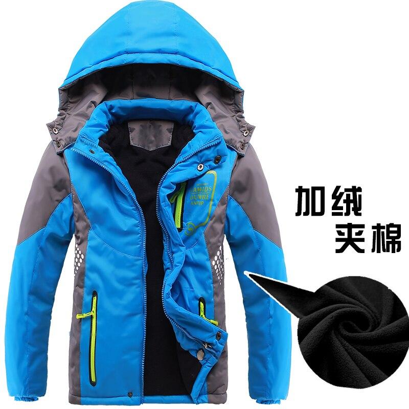 2017 Children Jackets Polar Fleece Winter Children Outerwear Warm Sporty Kids Clothes Waterproof Windproof Boys Tops For 4-15T