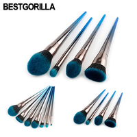 Professional 4 7pcs Set Diamond Makeup Brush Beauty Tools Flame Brush Eye Shadow Brush Blue And