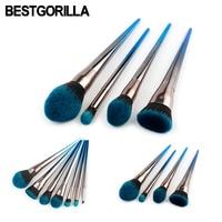 Professional 4 7pcs Set Diamond Makeup Brush Beauty Tools Flame Brush Eye Shadow Brush Blue And
