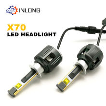 Inlong X70 H1 LED Headlight Bulb H4 H7 9005 9006 Led H11 H8 D1S D2S D4S HP Led Lamp Chip 120W 15600LM Headlamp Fog Lights 6000K(China)