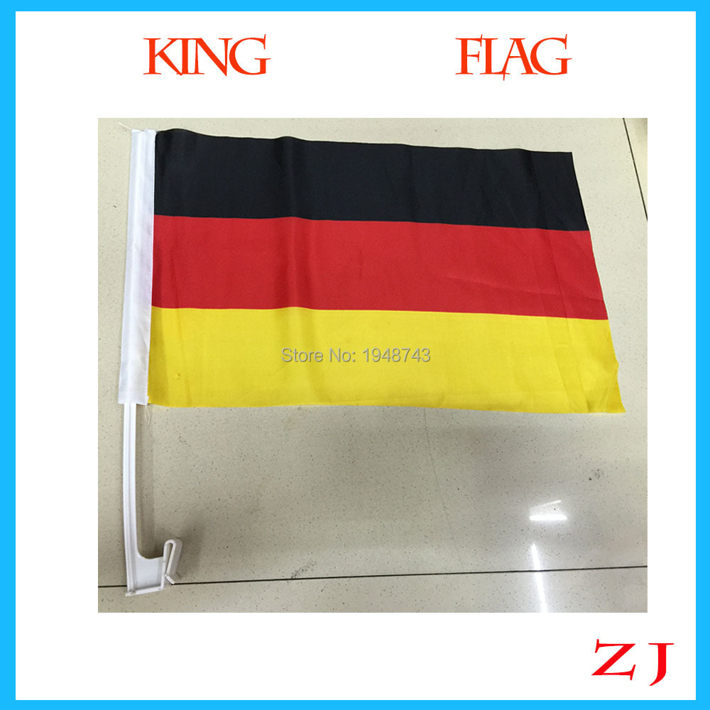 World Cup Hot sell 30*45cm Germany car flag car banner germany window banner window flag 2 pcs/lot