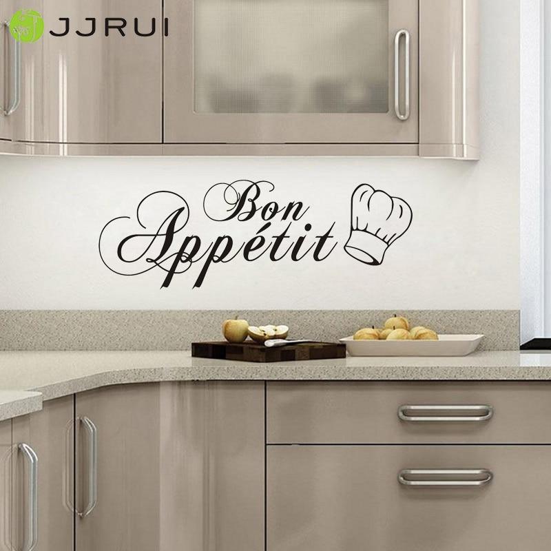 Jjrui Bon Appetit cocina comedor etiqueta de la pared DIY vinilo ...