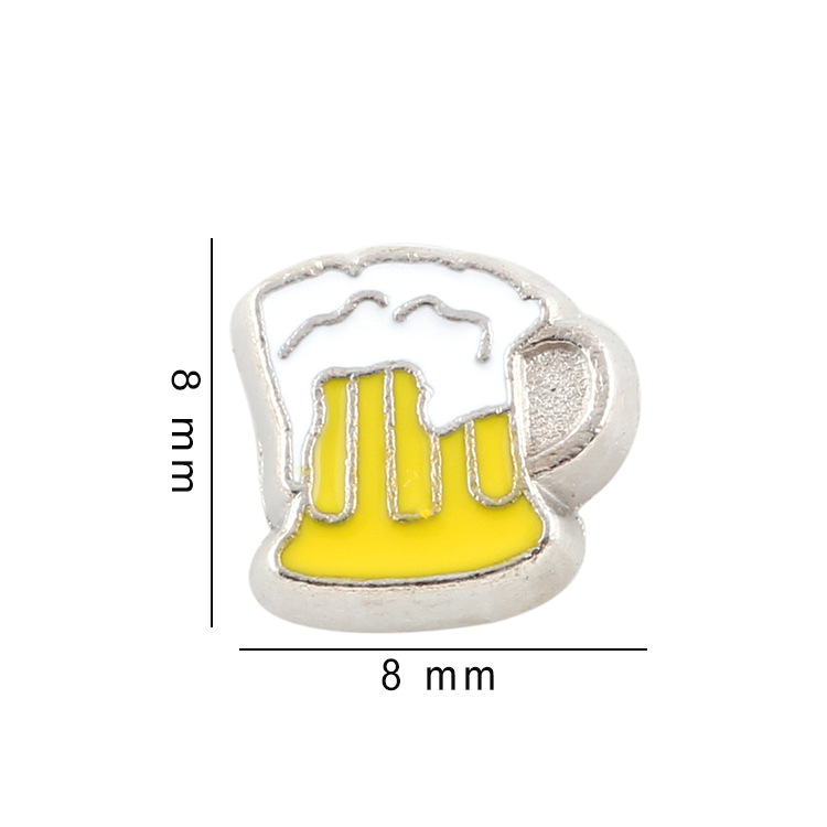 Free Shipping, 20pcs Enamel Cup Floating Charms Fit For Glass Living Memory Lockets, Gifts