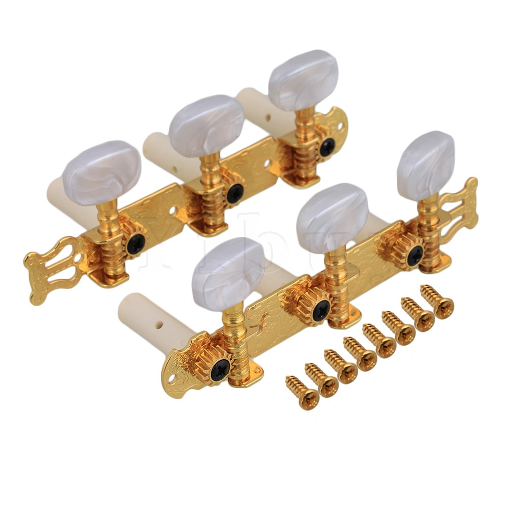Yibuy Golden Classical Guitar Tuning Pegs Machine Heads tuner
