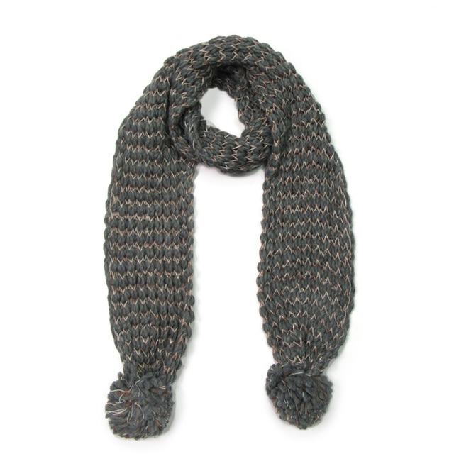 Bandana Sciarpa Per La Donna di Inverno Lavorato A Maglia Caldo di Spessore  Pompon Sfera Del f6e03fc69e64