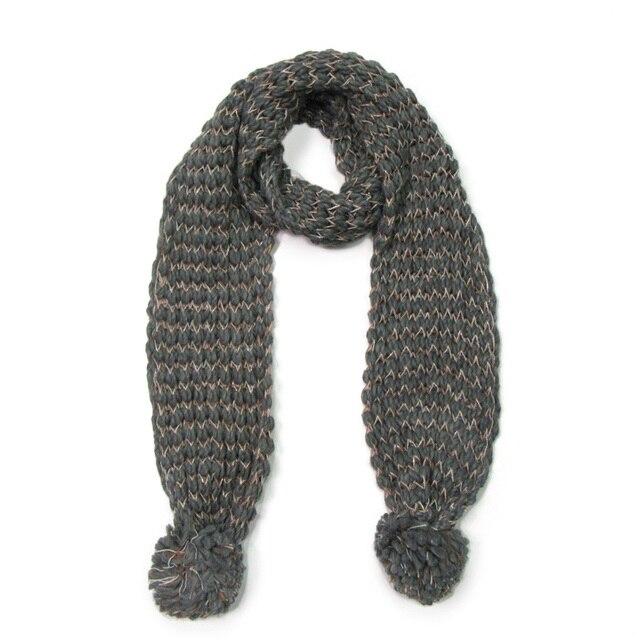 Bandana bufanda para mujer de invierno de punto grueso caliente ...