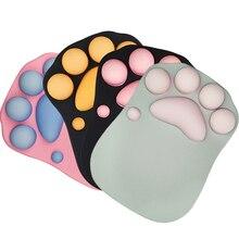 3D коврик для мыши мягкий силиконовый милый кошачий лап коврик для мыши Memory Foam подставки для запястья подушки коврик для мыши для детей ноутбук коврик для мыши