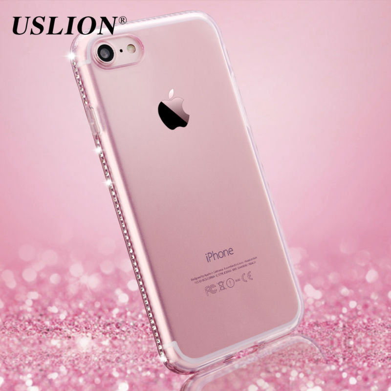 For Apple iPhone 7 6 6s Plus 5s SE Phone Case Luxury Diamond Transparent Soft TPU Cover Case Capa Coque For iPhone 7 Plus