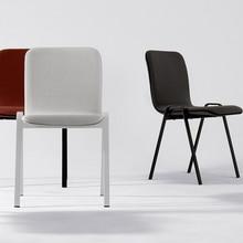 Modern minimalist restaurant furniture chair lounge restaurant modern cloth Chinese iron chair wood kitchen dining chair restaur