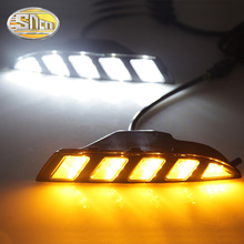 For Volkswagen Scirocco 2011 2012 2013 2014 2015 Yellow Turn Signal style Relay Waterproof 12V Car LED DRL Daytime Running light