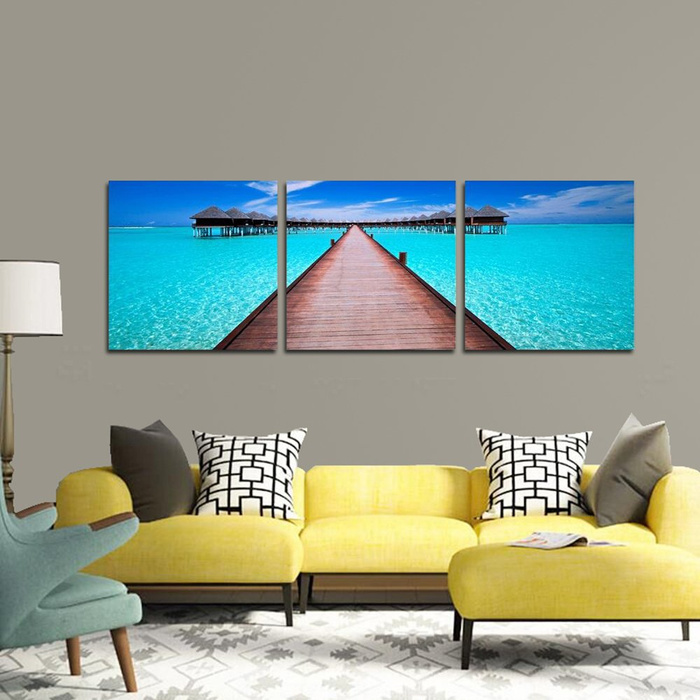 Blue Ocean 3 Piece Giclee Canvas Prints Wall Art Paintings for Living Room Bedroom Home Decorations Drop shippingBlue Ocean 3 Piece Giclee Canvas Prints Wall Art Paintings for Living Room Bedroom Home Decorations Drop shipping