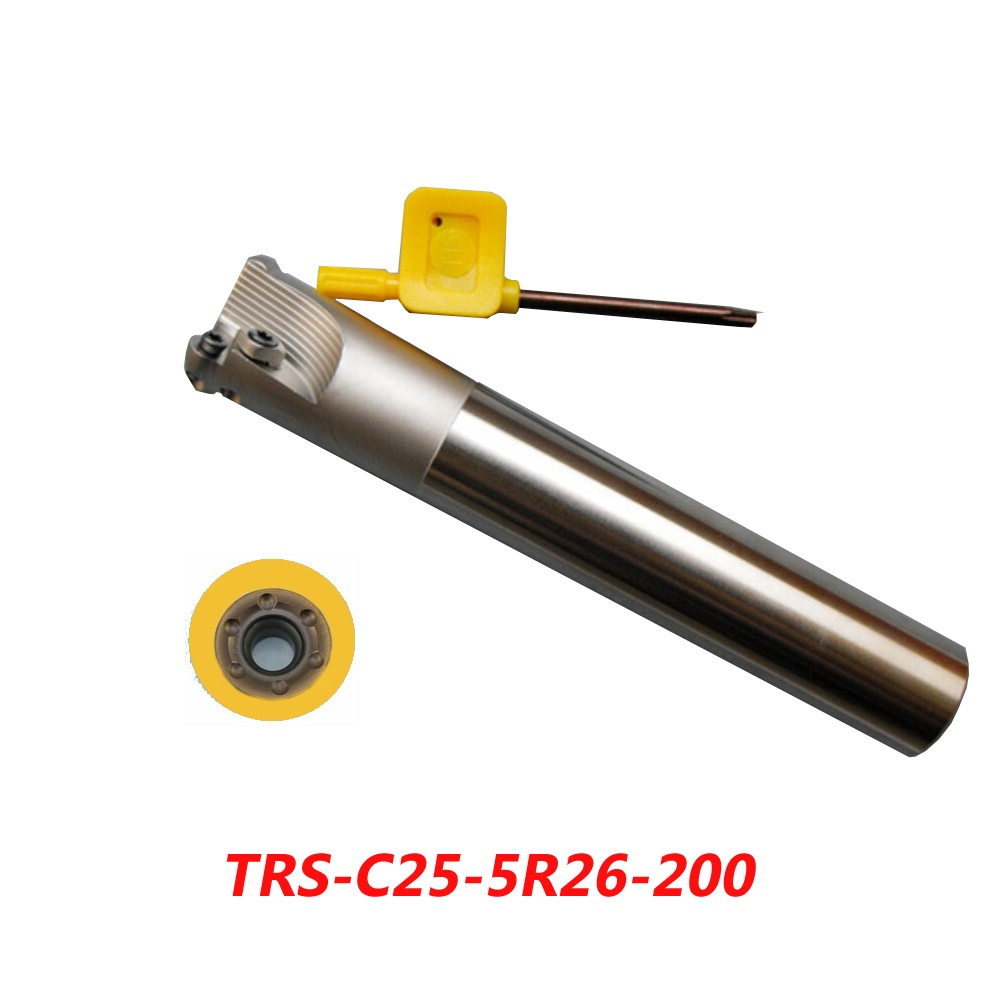 Free Shipping TRS-C25-5R26-200 Indexable Face Milling Cutter Tools For RDMT10T3MO Carbide Inserts Suitable For NC/CNC Machine  цены