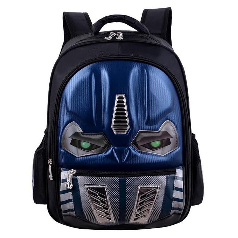 Transformers School Bag Children 3D Robot Backpack Kids Backpack Mochila Bag Waterproof Cartoon Boys Book Bag