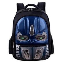 Transformers School Bag Children 3D Robot Backpack Kids Back