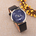 Top Selling Lovely Cute Mustache Cat Pattern Quartz Wristwatches Wrist Watches Fashion & Casual Quartz Watch for Children Kids