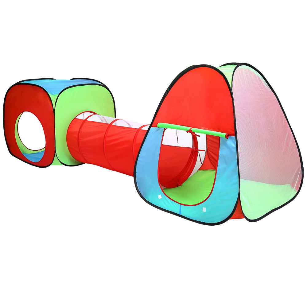 3 In 1 Waterproof Polyester Children Playground Game Toys Tunnel Tent House Indoor Outdoor Game new arrival indoor outdoor large children s house game room children s toys 3 in 1 square crawl tunnel folding kid play tent