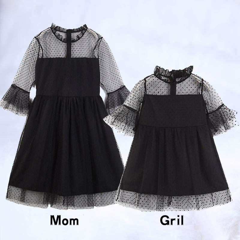 Black Lace Dress Girls Mother Daughter Dresses Boutique Kids Clothing Parent Child Outfits Mommy and Me Family Matching ClothesBlack Lace Dress Girls Mother Daughter Dresses Boutique Kids Clothing Parent Child Outfits Mommy and Me Family Matching Clothes