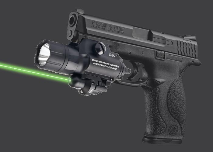 500 Lumen tactique rouge vert Laser vue pistolet lampe de poche lumière LED Airsoft torche optique pour Picatinny Rail arme de chasse
