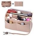 Сумочка-органайзер  вставка для макияжа  войлочная сумка-Органайзер на молнии  сумка и сумка-тоут  подходящая косметичка  сумка-тоут