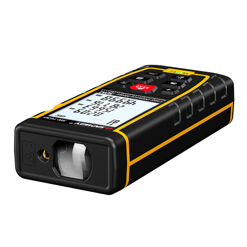 SNDWAY Laser Distance Meter 40-120M with LCD and Auto Power Off to Measure Wide Range Area 30