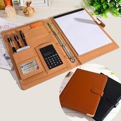 جلد ruize padfolio multifunction منظم مخطط دفتر عصابة الموثق مجلد a4 مجلد ملف مع حاسبة مكتب التموين