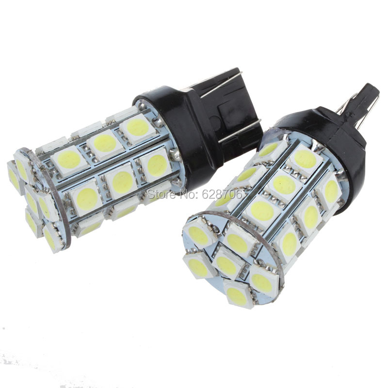 2pcs <font><b>T20</b></font> W21/5W 7443 W21W 7440 WY21W 27 5050 SMD <font><b>LED</b></font> Pure White Auto Car Daytime Running Light <font><b>Bulb</b></font> Brake Turn Stop <font><b>Rear</b></font> Lamp image