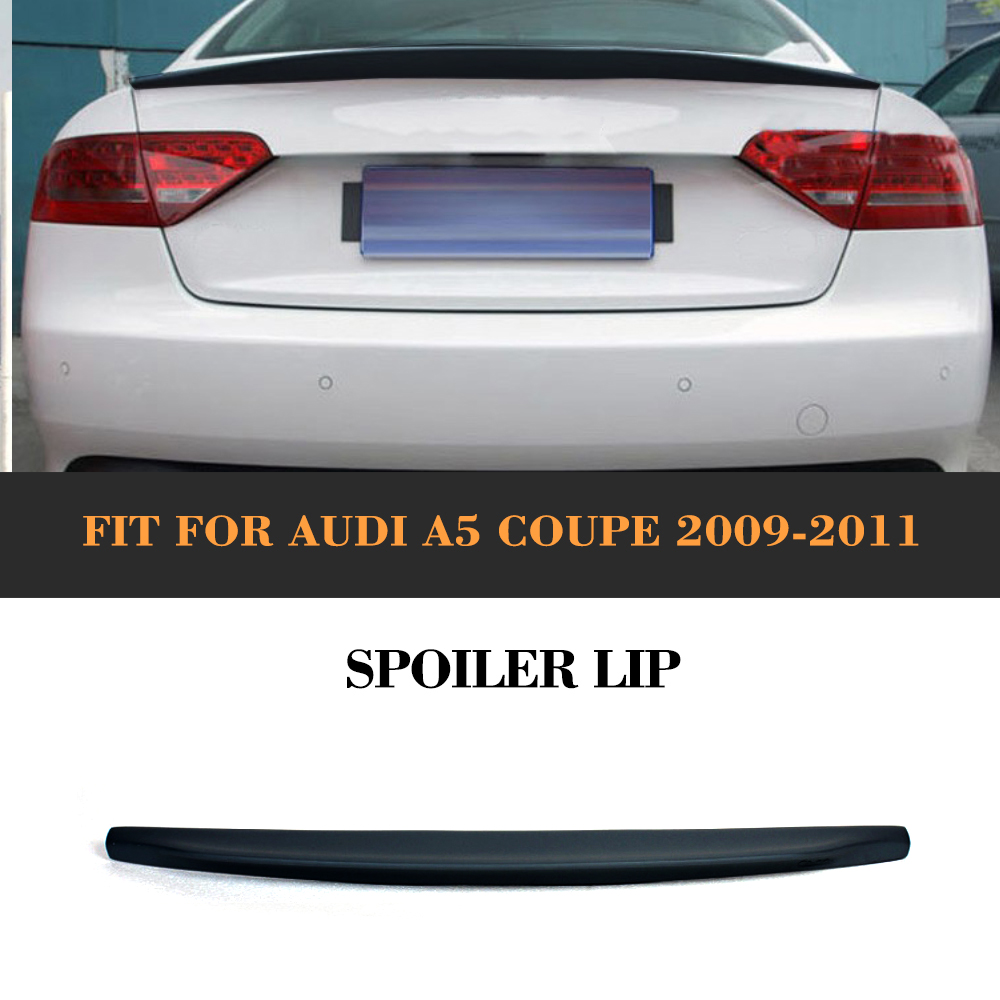 Car Rear Trunk Boot Custom Spoiler Lip Rear Wing For Audi A5 Coupe 2 Door standard Only 09-15 Blcak PU C Type unpainted rear roof lip spoiler wing for bmw e87 e81 2004 2011