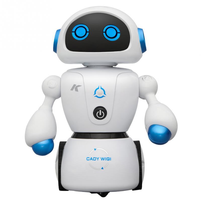 JJR/C RC Roboter R6 LED licht Fernbedienung Labyrinth-lösung Multifunktionale Smart Roboter Drehbare Arme Kinder Spielzeug orange blau