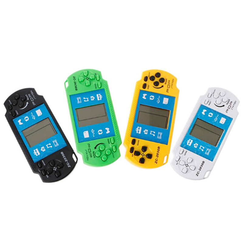 Classic Tetris Hand Held LCD Game Toys Fun Brick Game Riddle Handheld Game Console