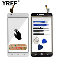 A+++ Touch Screen Glass Digitizer For Huawei G620S G621 8817E 8817S Sensor Touchscreen Front Glass Sensor Replacement + Adhesive