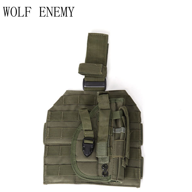 Tactical Airsoft Molle Drop Leg Платформа тақтасы w / тапаншасы Холстер