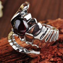 Black silver jewelry wholesale 925 Sterling Silver Jewelry Silver King Scorpion Scorpio domineering ring 001201