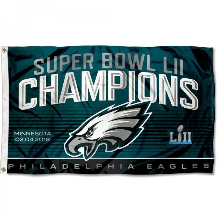 Philadelphia Eagles Super Bowl LII 52 Champs Bandiera 3ft x 5ft