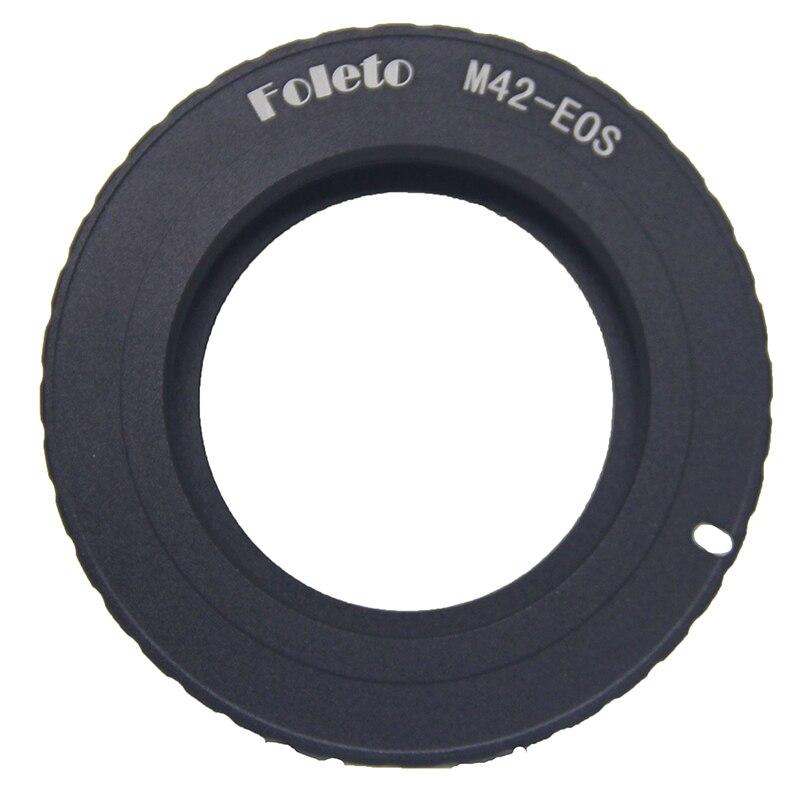 Prix pour Foleto10pcs/lot noir AF Confirmez Mount Adapter Pour M42 Lens pour pour Canon EOS EF Appareil Photo EOS 5D/EOS 5D Mark II/EOS 7D