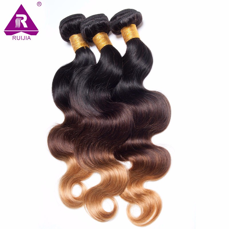 8A Grade Ombre Mongolian Body Wave Virgin Hair 3pcs Mongolian Ombre Hair Human Hair Weave Dark Brown 1B 4 27 Tissage Bresilienne (21)