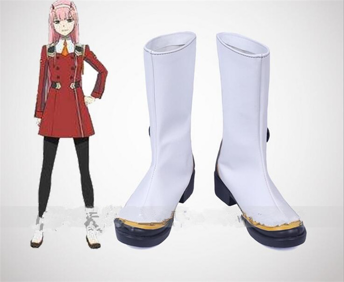 DARLING in the FRANXX Cosplay Shoes 02 Cosplay Boots Zero Two Women Cos Shoes A437