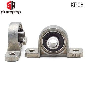 2 pçs kp08 furo 8mm rolamento de esferas travesseiro liga zinco bloco montado auto alinhar suporte para impressora 3d peças diy para t8 chumbo parafuso