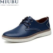 MIUBU Brand Spring Autumn Men Shoes Geniune Leather Fashion Comfortable Business Office Flats Footwear Big Size 47