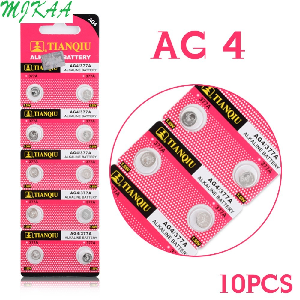 10pcs Real Power For Watch Button Battery SR626SW WATCH COIN CELL BATTERY SR626 376 377 GP377 V377 565 L626 G4 GA4 AG4 EE6205